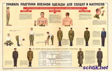 Военная форма. Правила подгонки военной одежды
