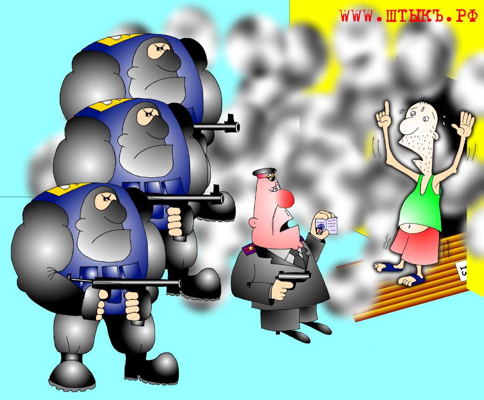Новые правила призыва в армию. Карикатура из газеты «ШТЫКЪ»