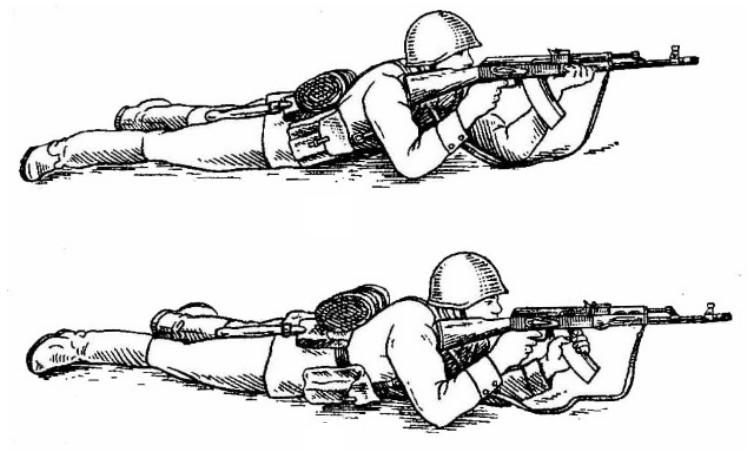 Стрельба лежа. Воениздат