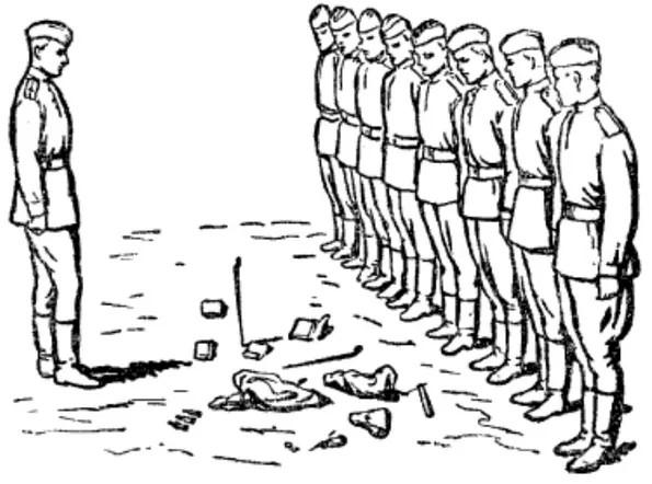 Иллюстрация из «Учебника сержанта», Воениздат, Москва, 1948 г.