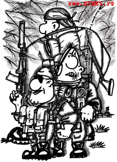 Карикатура-пародия с сайта газеты «ШТЫКЪ»