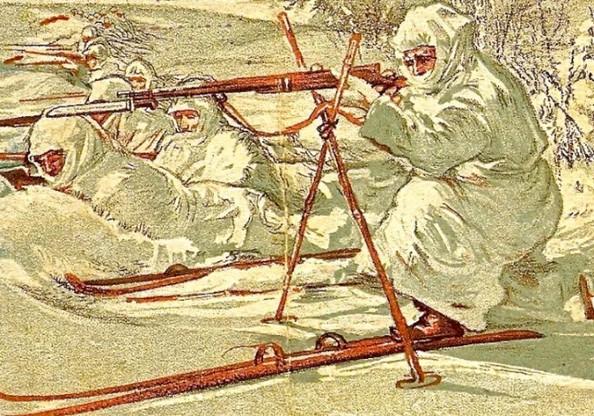 Репродукция поздравительной открытки СССР, 1938 г.