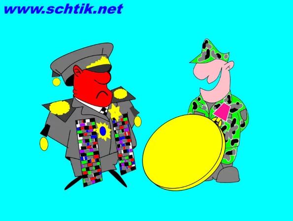 Ряженные медалисты и орденоносцы. Карикатура