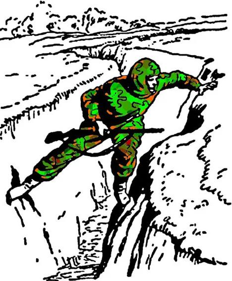 """Коллаж иллюстрации из """"Учебника сержанта Сухопутных Войск"""", Воениздат, 1954 г."""