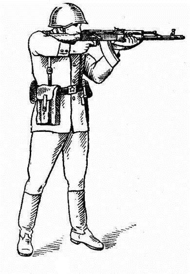 """Иллюстрация из """"Руководство по АК-74"""", Воениздат, СССР, 1985 г."""